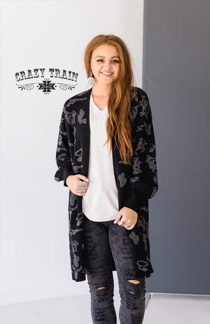 Cowboy Cadillac Cardigan - Also in Plus Size