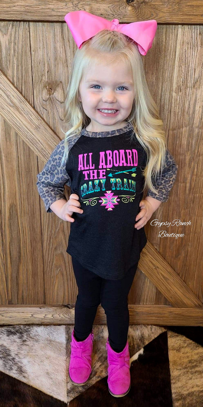 Kids All Aboard The Crazy Train Top