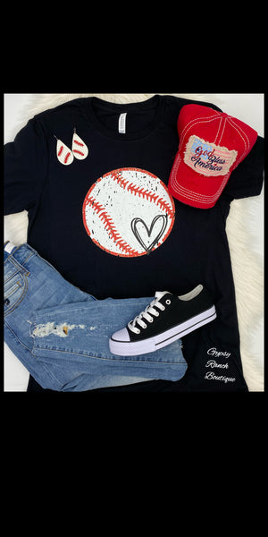 For the Love of the Game BASEBALL Top - Also in Plus Size