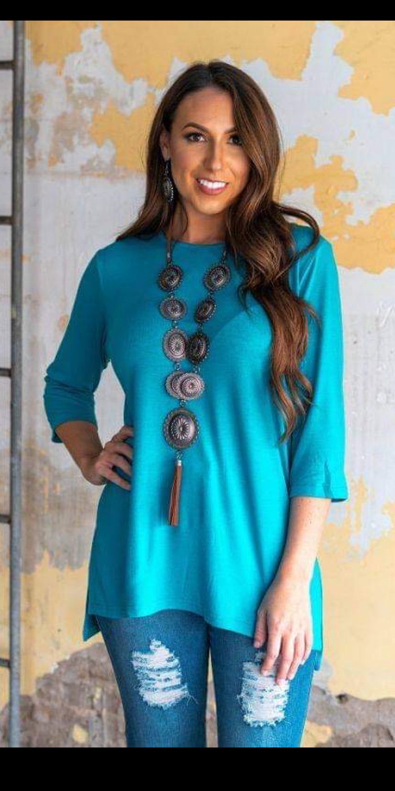 Tesla Turquoise Top - Also in Plus Size