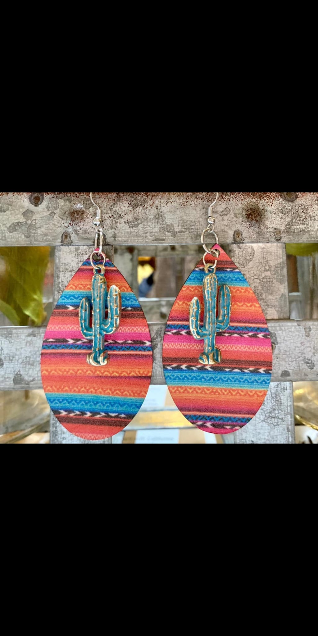 Haute Cactus Serape Earrings