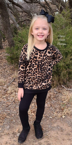 Churchill Downs Leopard Sweatshirt Top Kids