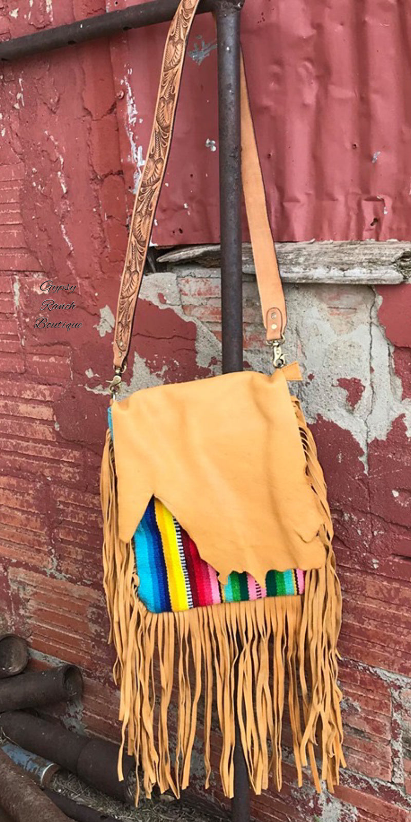 Wild Horse Serape Fringe Purse Bag