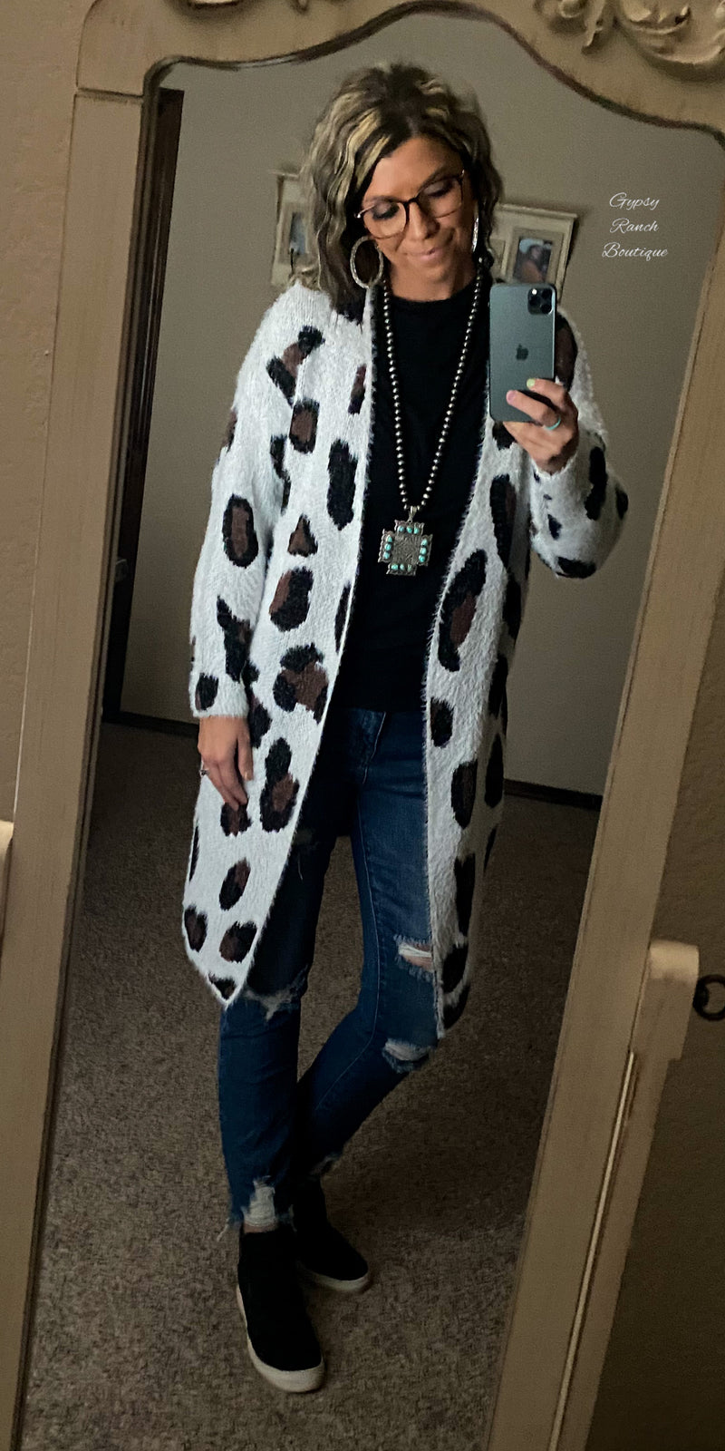 Deep in the Wild Leopard Cardigan - Also in Plus Size