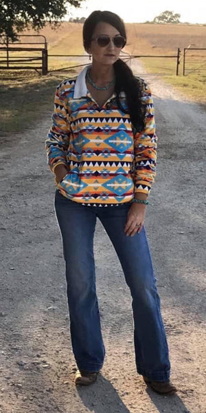 Ritzy Gypsy Aztec SOFT Pullover Top - Also in Plus Size