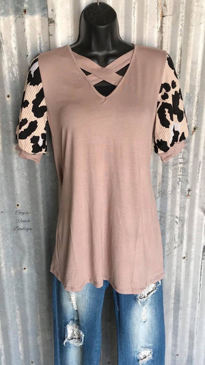 Mocha Latte Leopard Top - Also in Plus Size