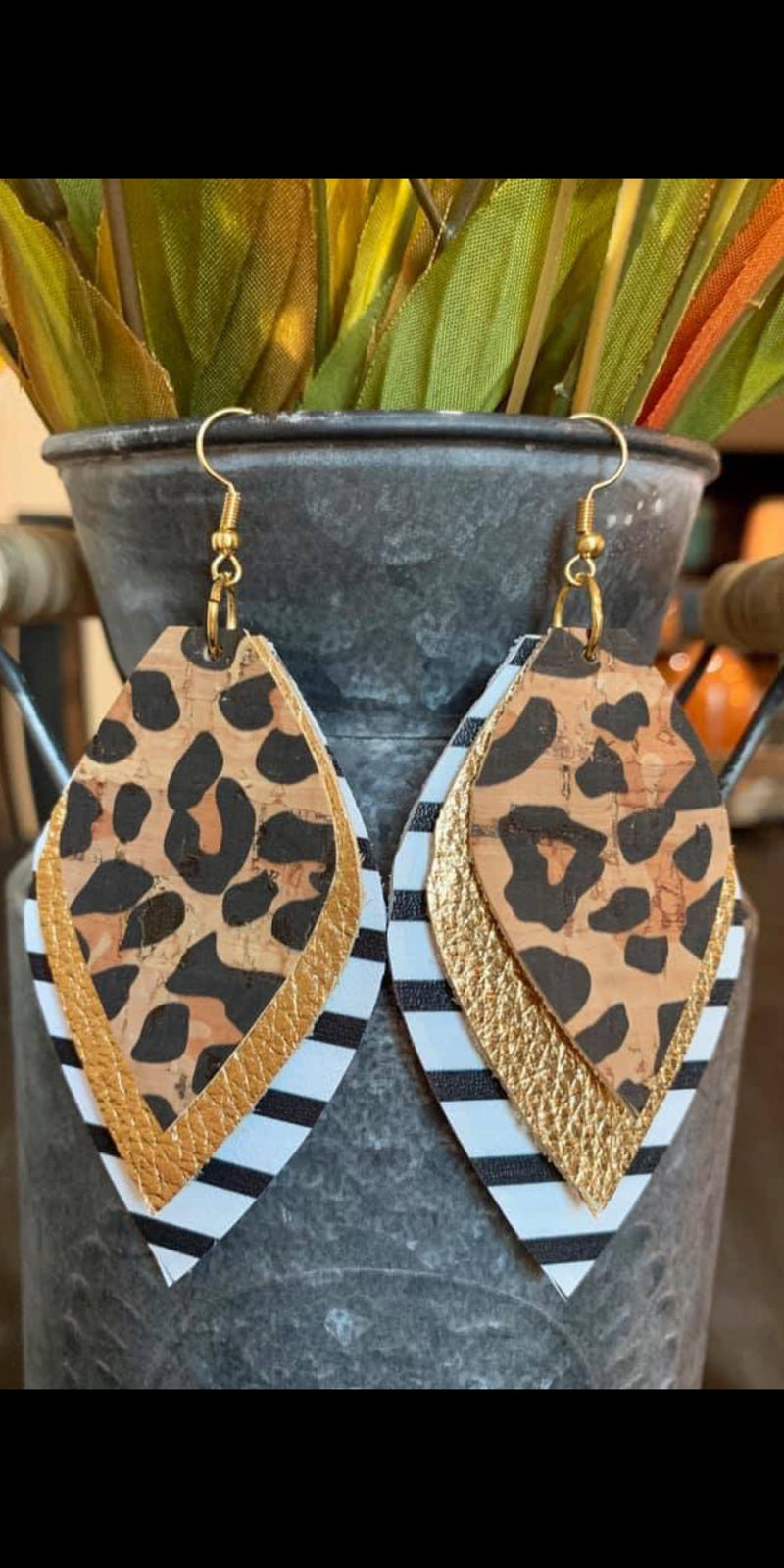 Prime Time Leopard Stripe Earrings