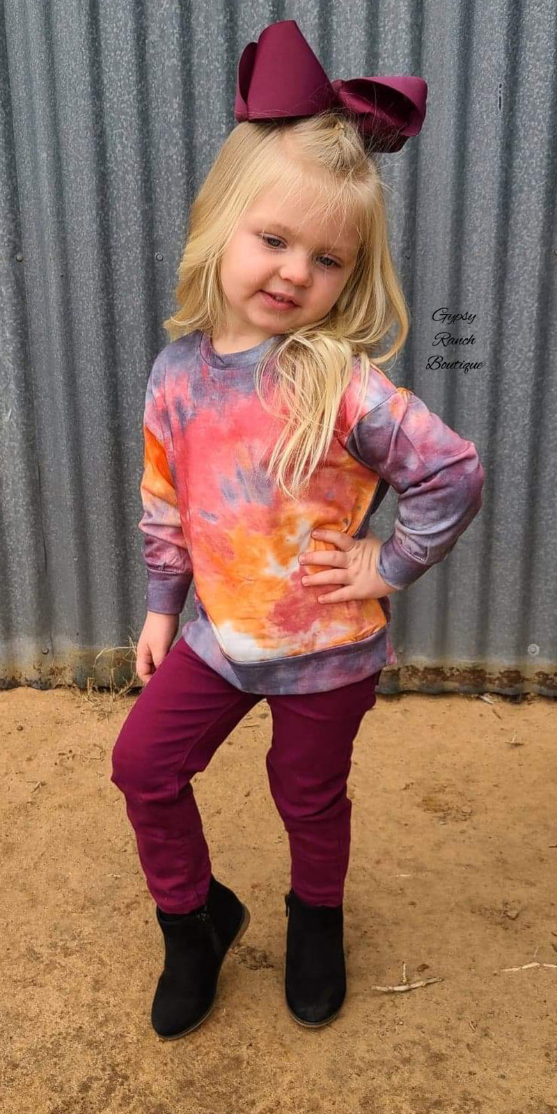 Totally Chill Tye Dye Top - Kids