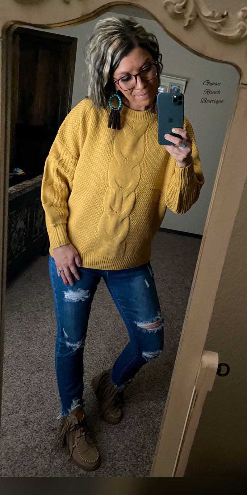 Sable Mustard Sweater