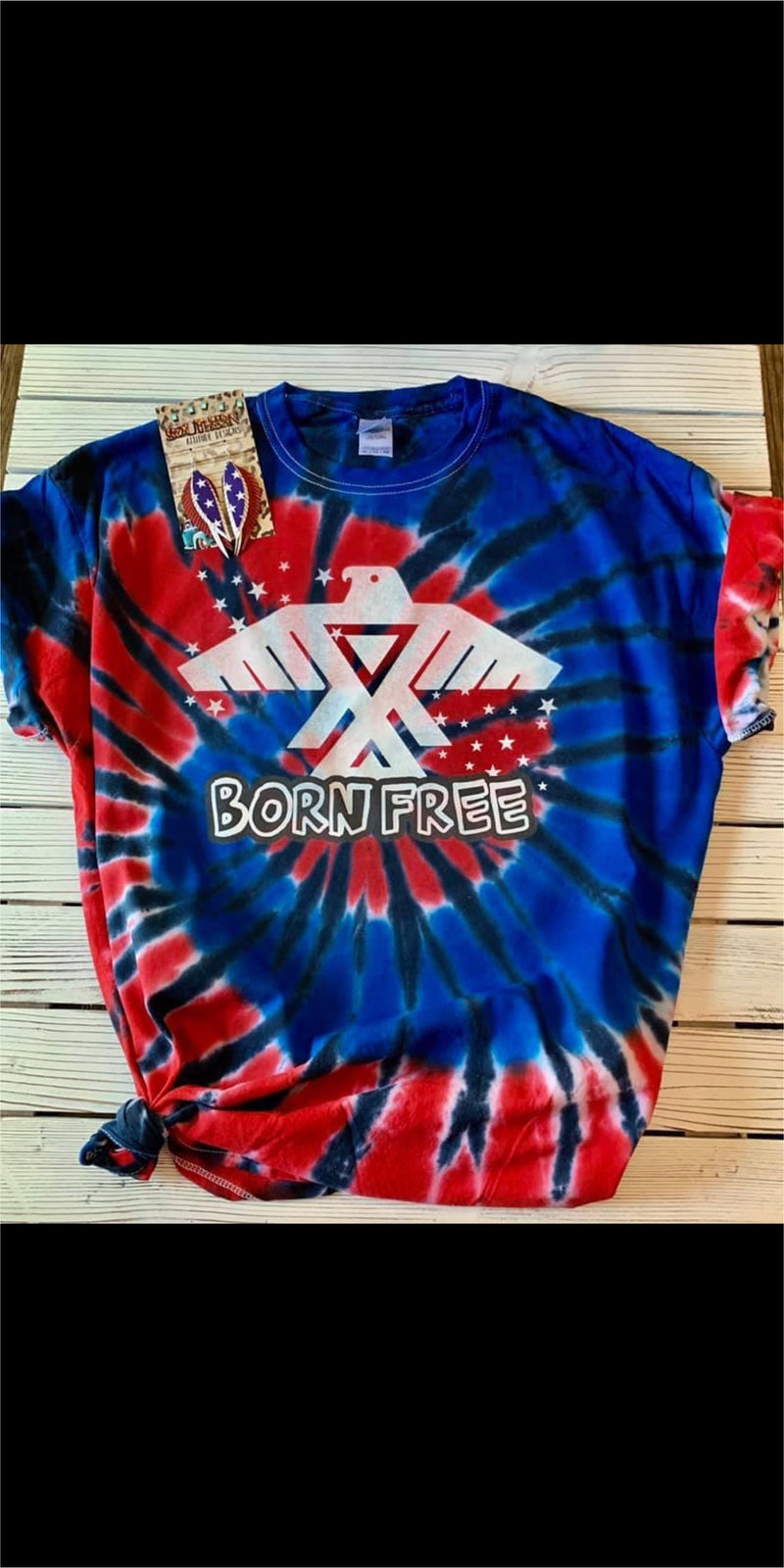 Born Free Tye Dye Top - Also in Plus Size