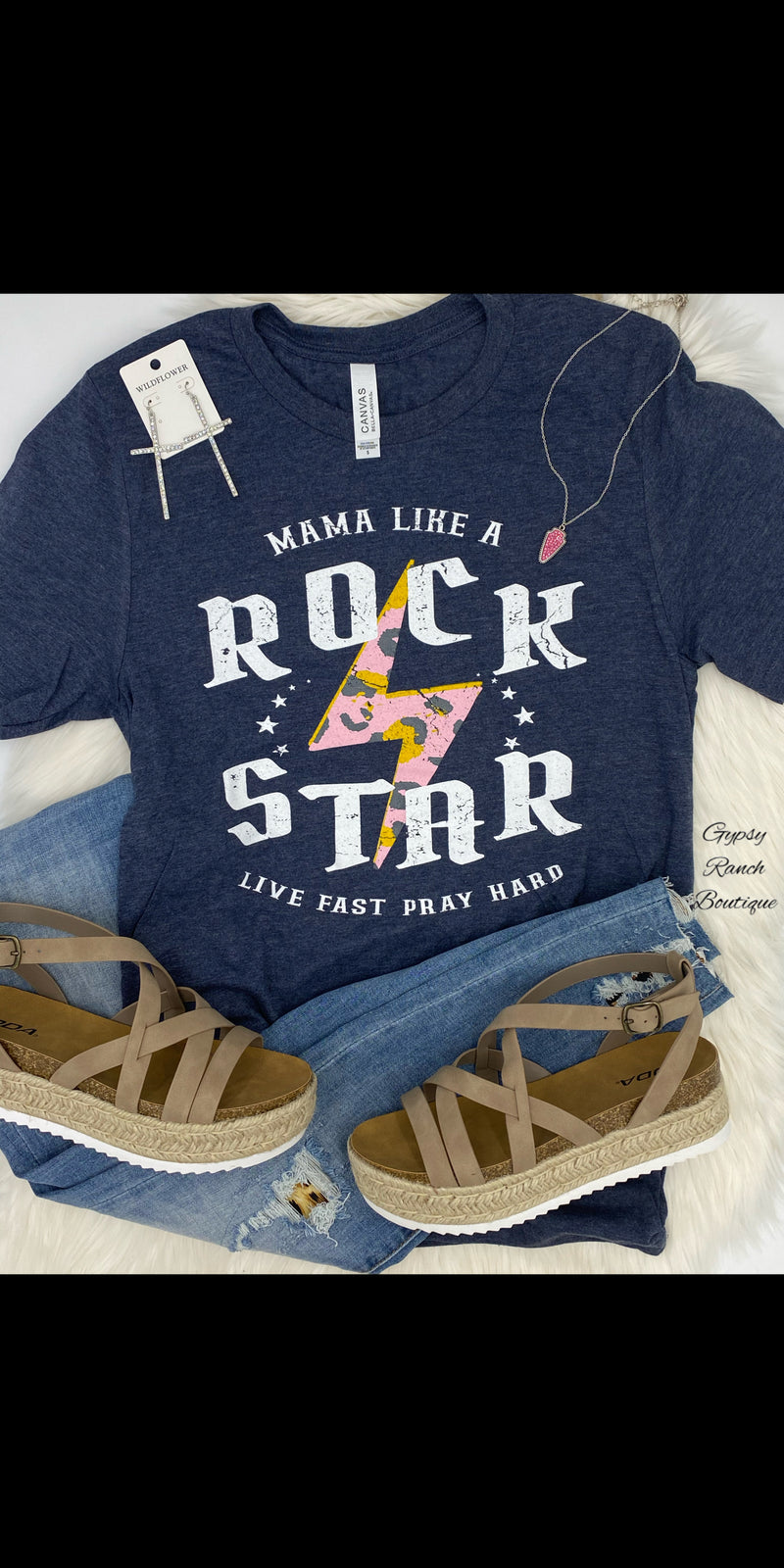 MaMa Like A Rockstar Top - Also in Plus Size