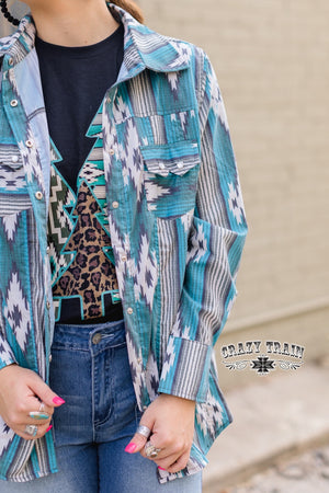 NFR Worthy Button Up Pearl Snap Top - Also in Plus Size
