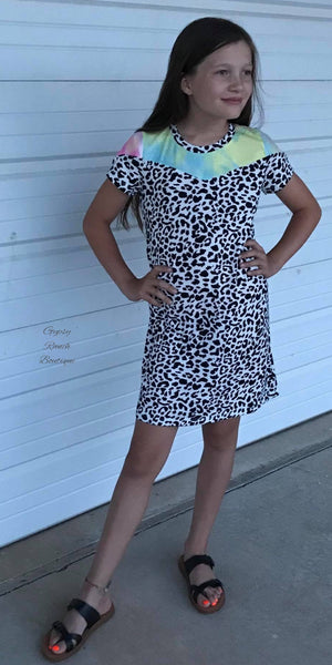 Kids It Takes Two Leopard Tye Dye Dress