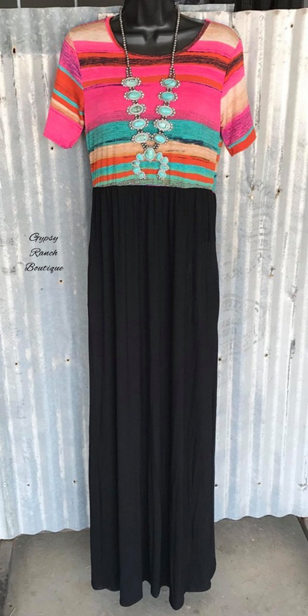 Cabana Serape Maxi  Dress - Also in Plus Size