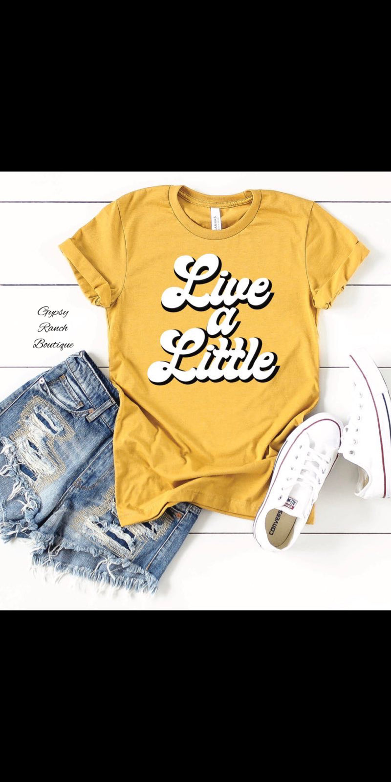 Live A Little Mustard Top - Also in Plus Size