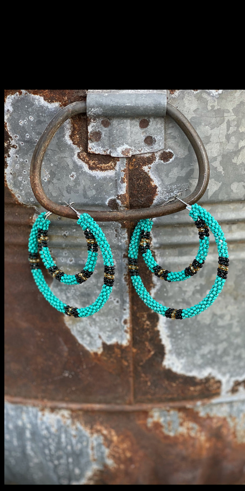 In the Loop Turquoise Hoop Earrings