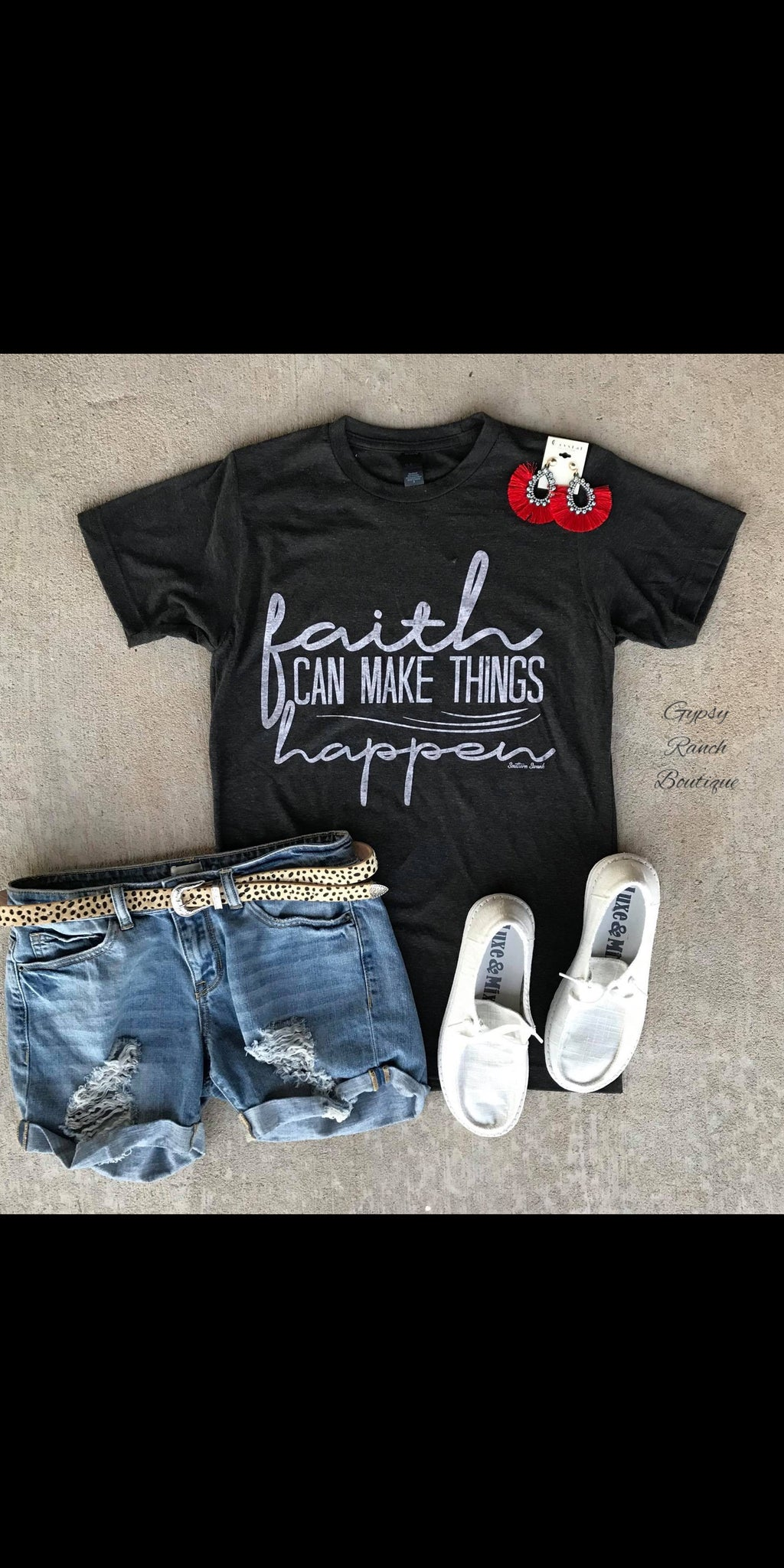 Faith Can Make Things Happen Top - Also in Plus Size