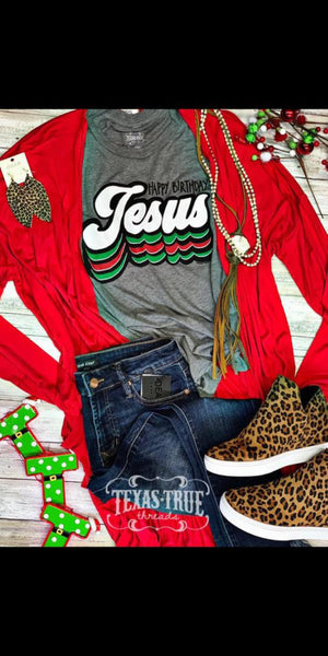 Happy Birthday Jesus Top - Also in Plus Size