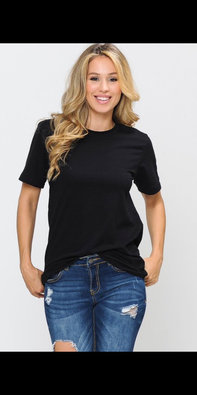 Classic Black Top - Also in Plus Size