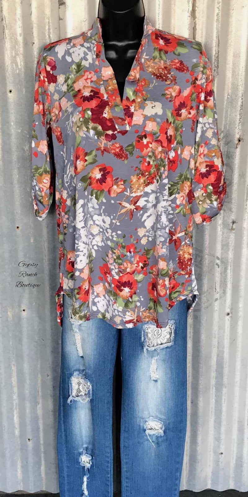 Light Me Up Floral Top - Also in Plus Size