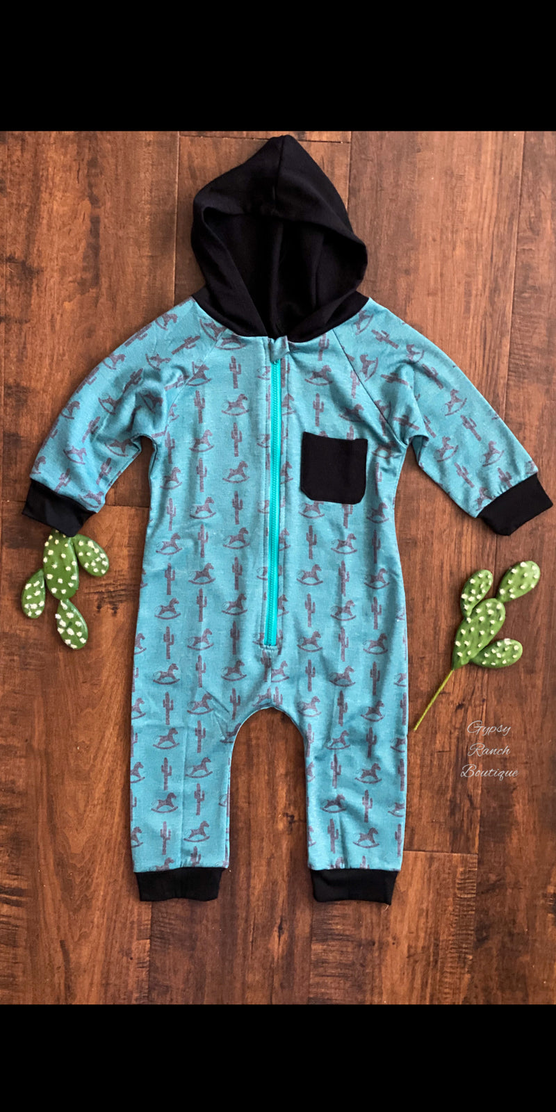Baby Stir Up Trouble Zip Hoodsie Onesie