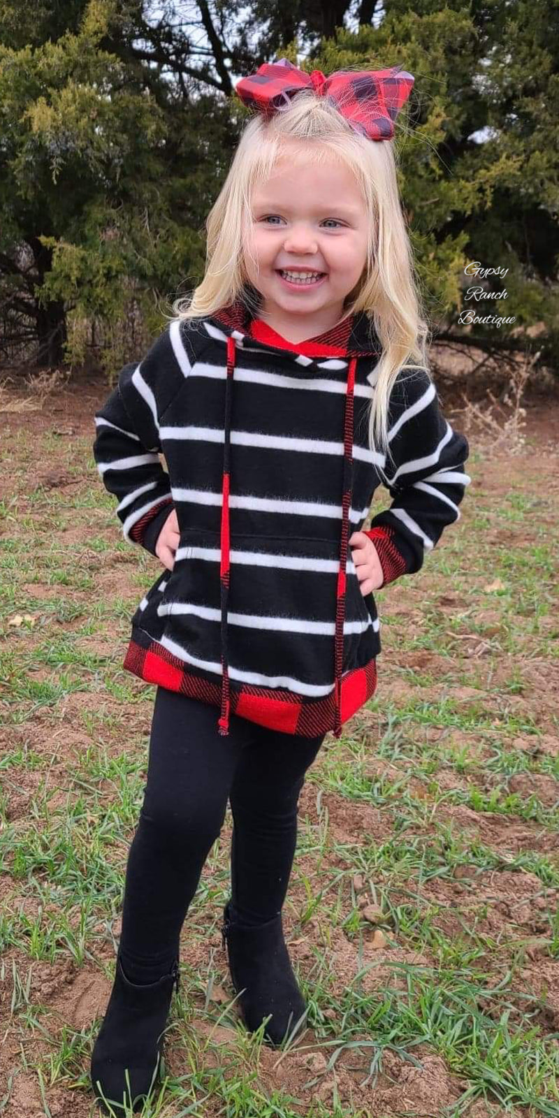 Brynlee Buffalo Plaid Stripe Kids