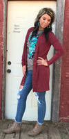 Randa Rust Snap Cardigan - Also in Plus Size