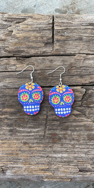 Diá de Muertos Sugar Skull Earrings