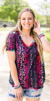 Wildarado Reversible Serape Leopard Top - Also in Plus Size