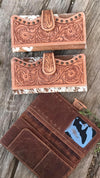 Horizon City Leather & Cowhide Tooled Wallet