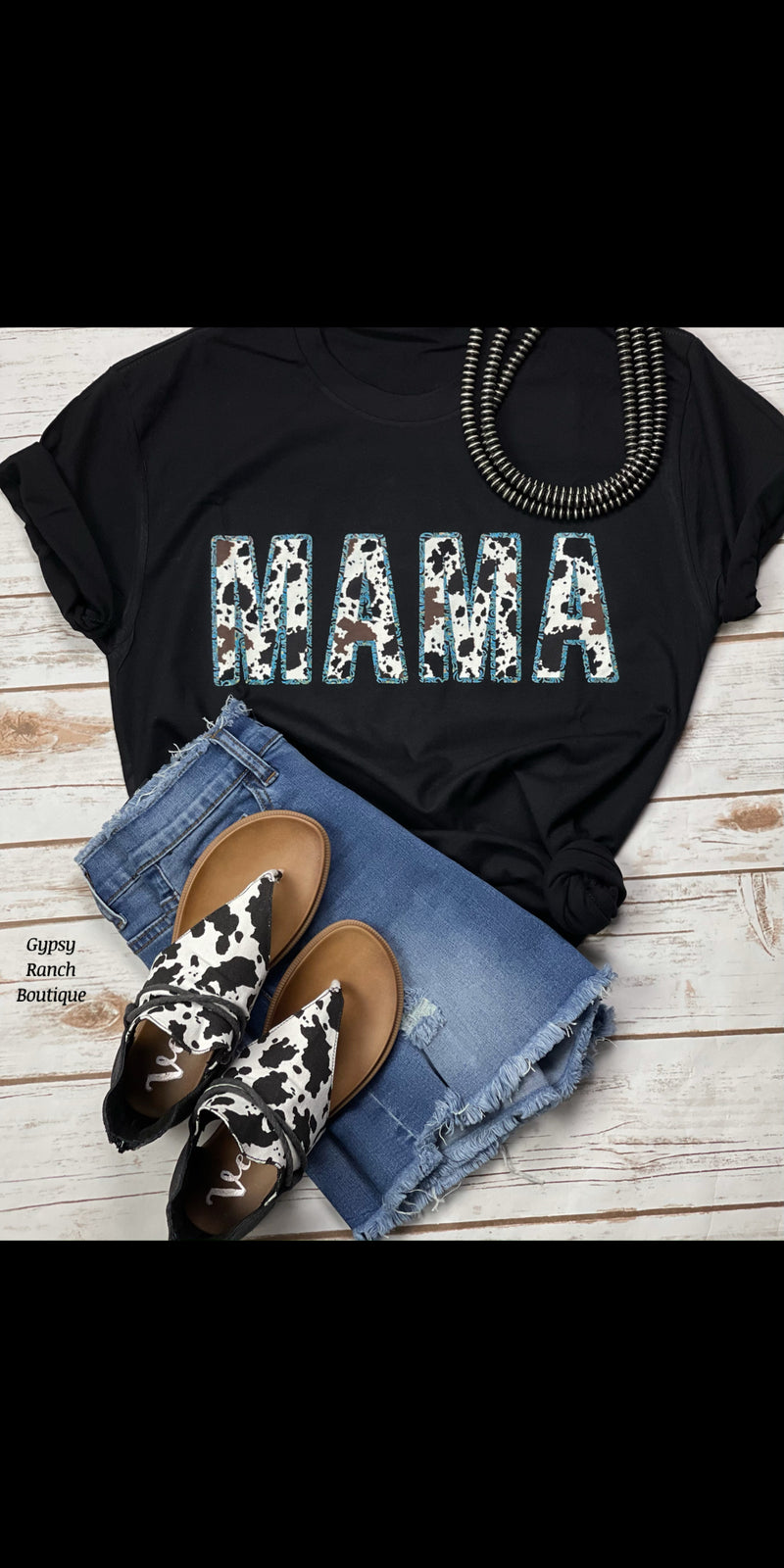 MAMA in Cowhide Print Top - Also in Plus Size
