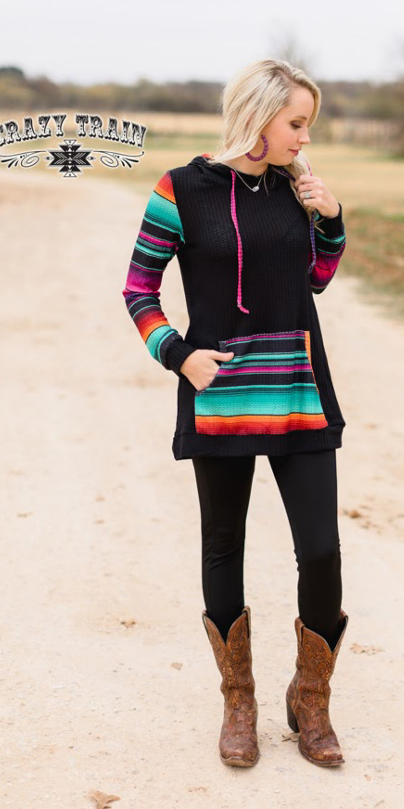 The Fun Haver Serape Pullover Top - Also in Plus Size