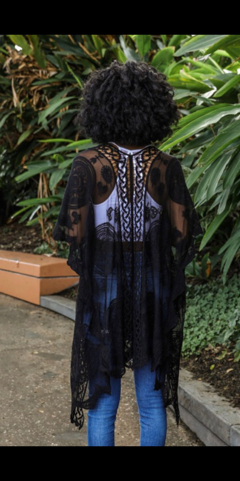 The Shenandoah Black Lace Kimono - Also in Plus Size