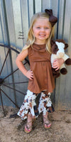 Sioux Falls Cowhide Print Outfit - Kids