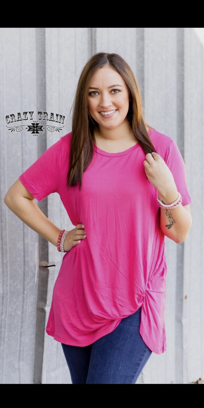Pink Knotty Top - Also in Plus Size