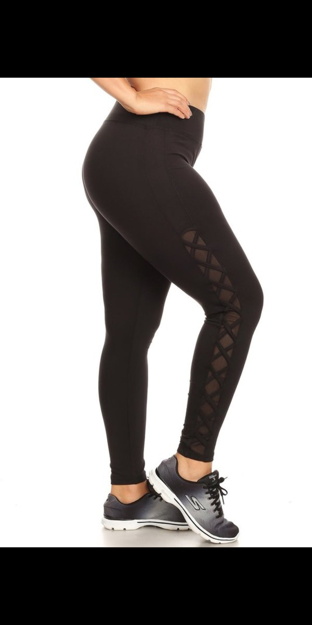The Spade Black Athletic Leggings - Also in Plus Size
