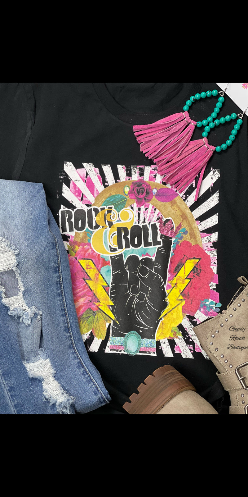 Just A Little Rock N Roll Tee - Also in Plus Size