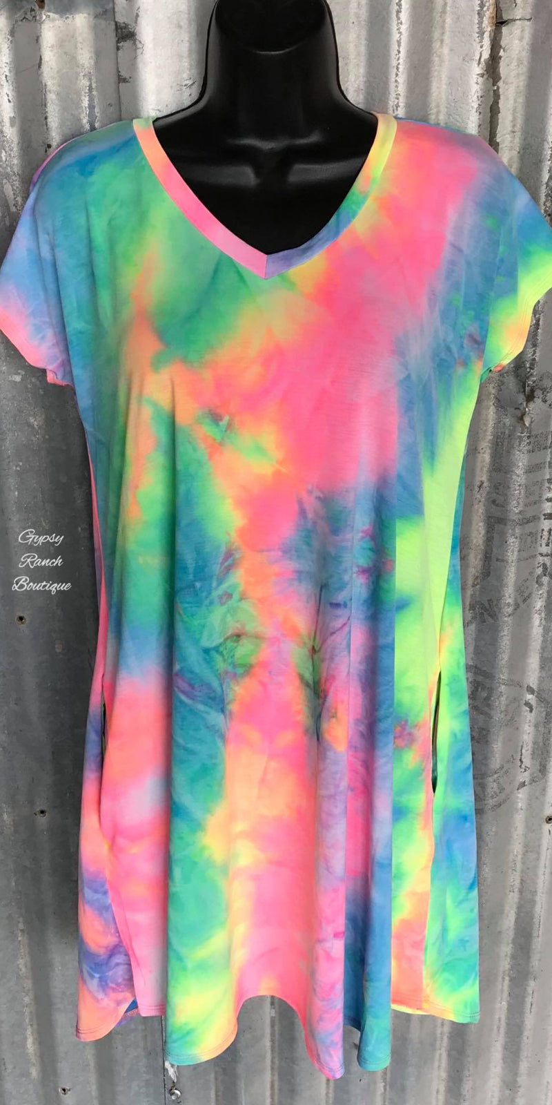 Berlin Tye Dye Tunic Dress -Also in Plus Size