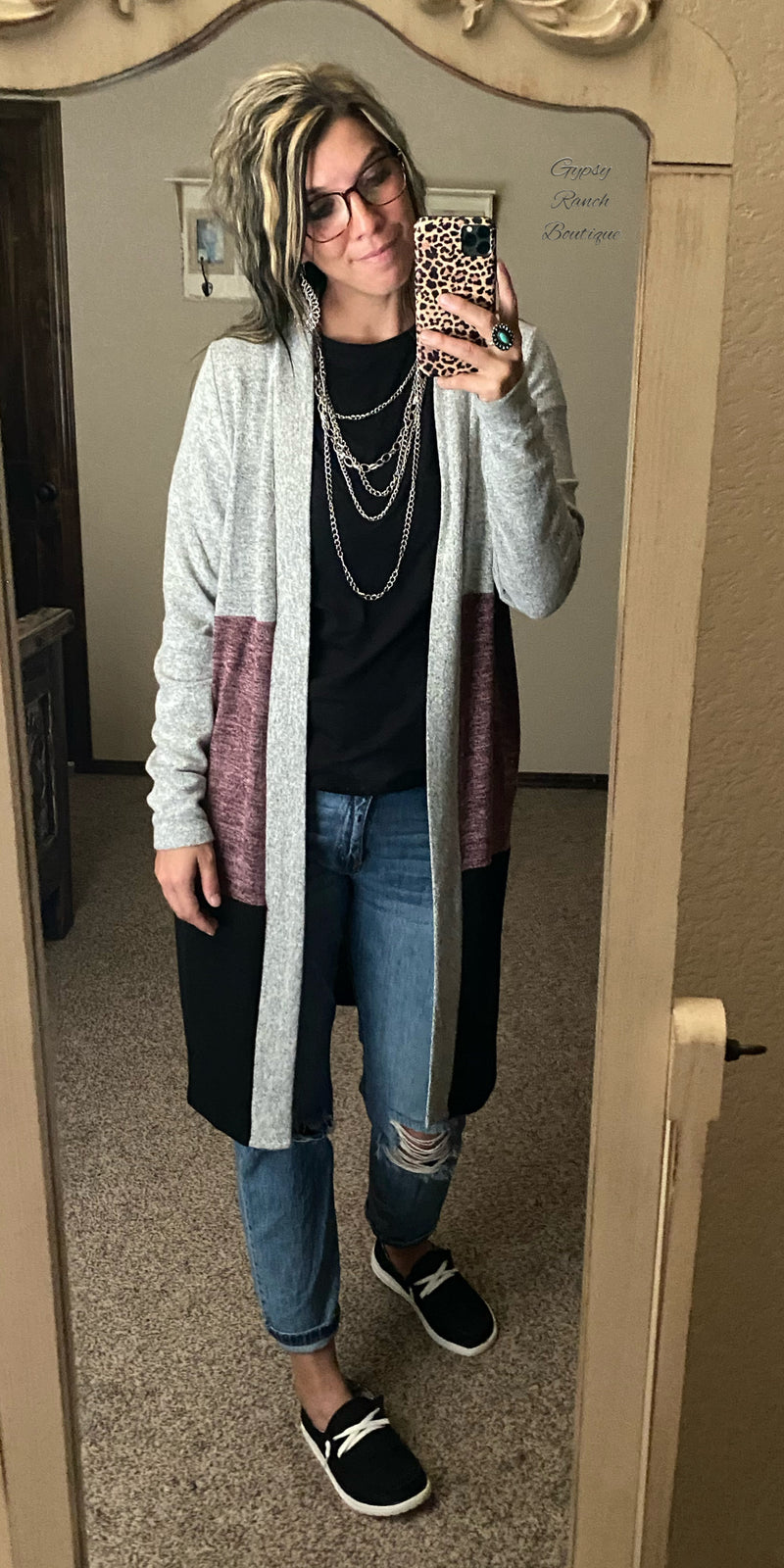 Plum Cute Cardigan - Also in Plus Size