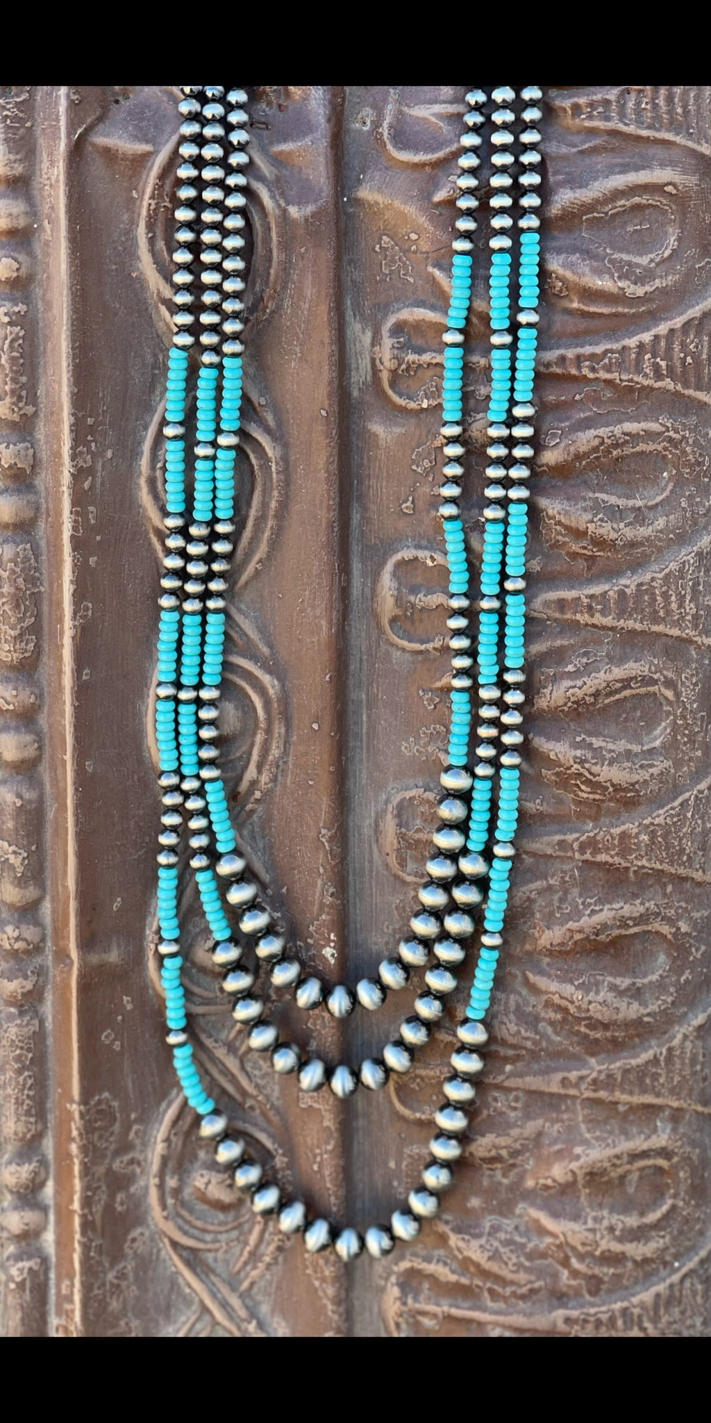 Cimarron Silver Turquoise Multi Necklace