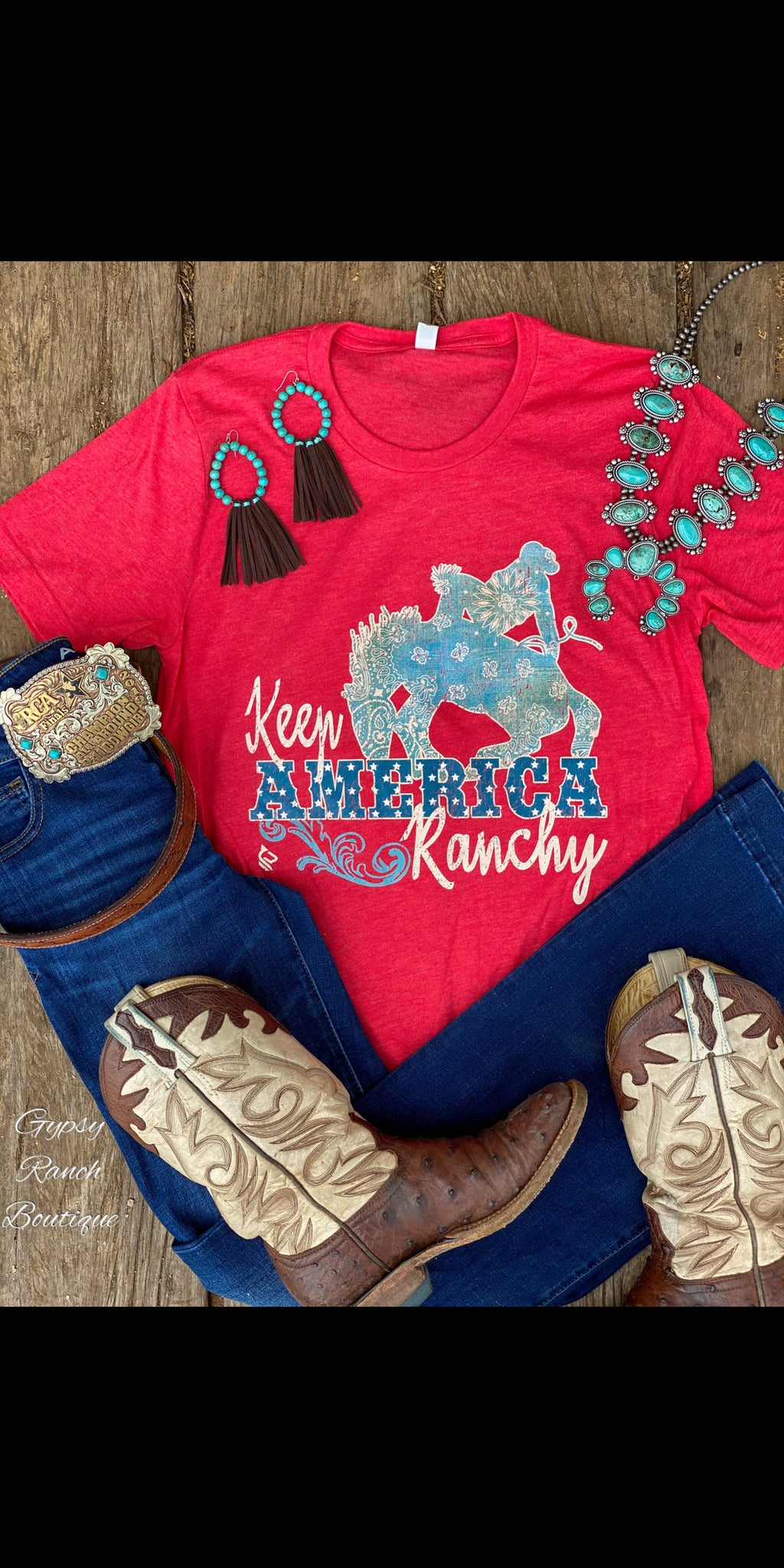 Keep America Ranchy Top - Also in Plus Size