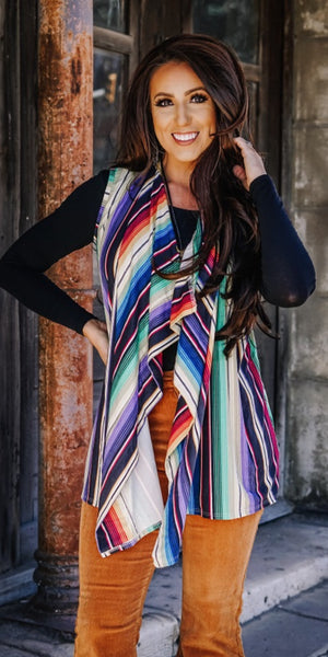 Grand Avenue Serape Vest-Also in Plus Size