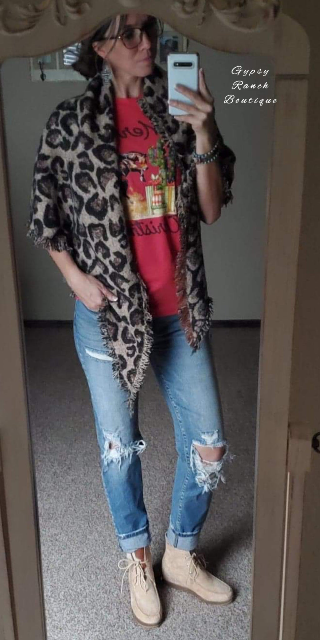 Leopard Shawl Coverup