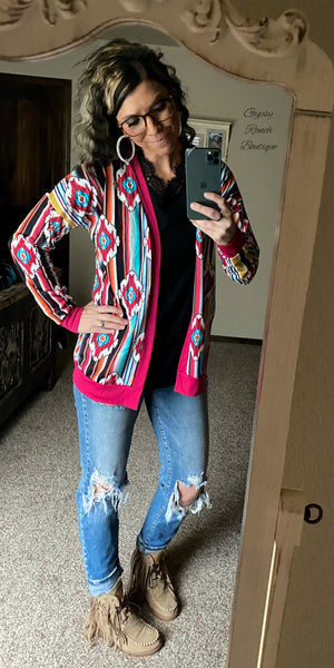 Jackson County Aztec Cardigan  - Also in Plus Size