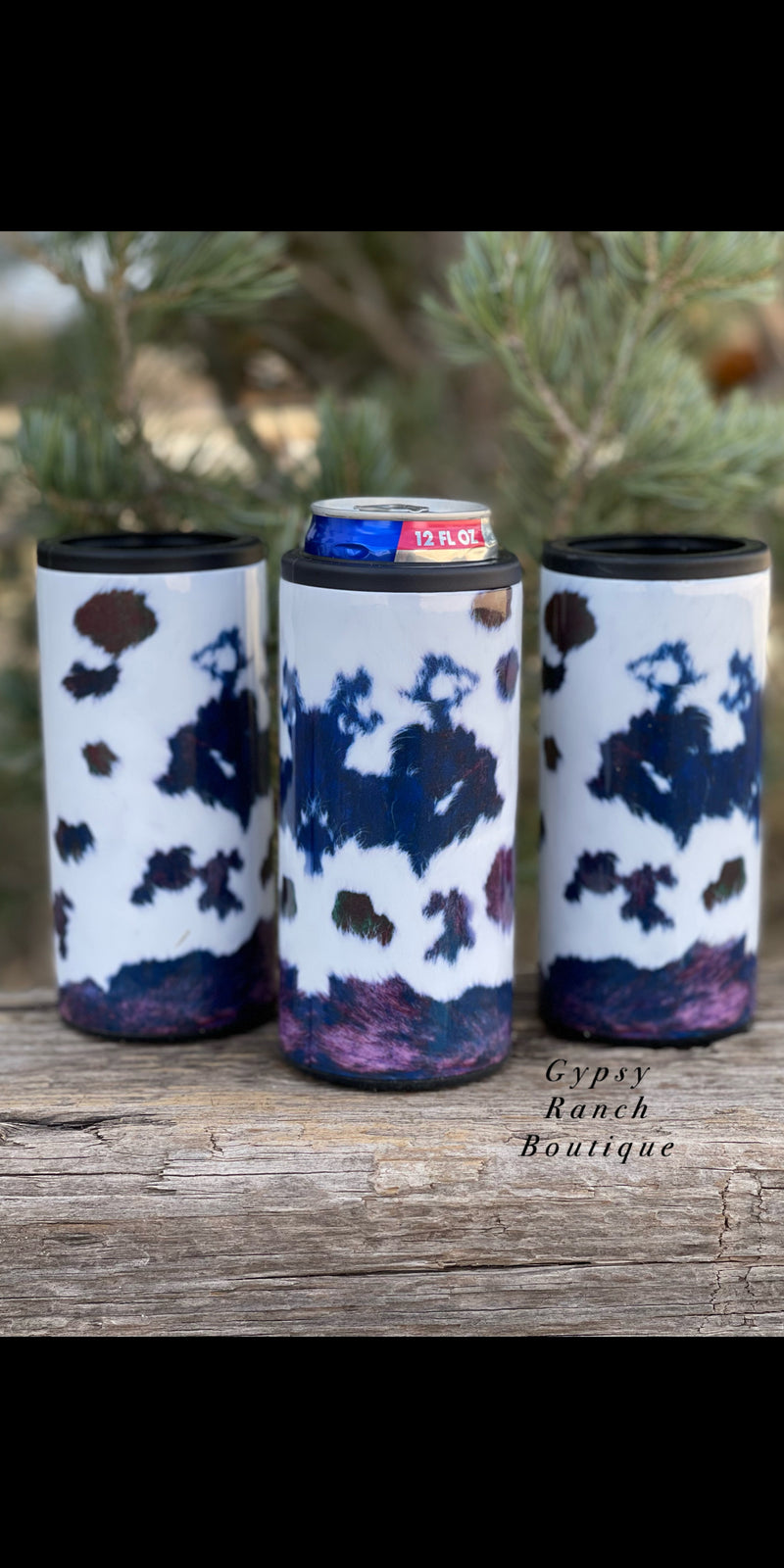 Cowhide Slim Can Insulated Can Cooler