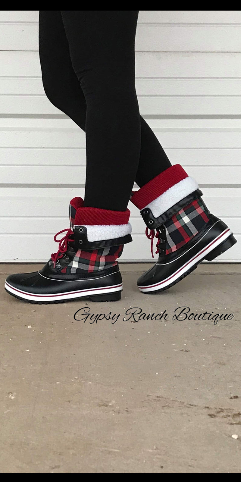 Pryor Plaid Snow/Rain Boots