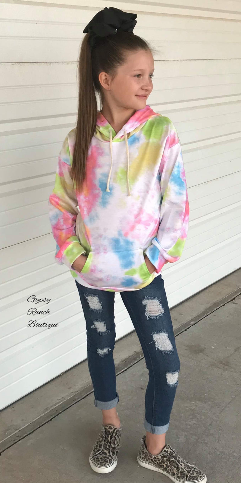 Tendon Tye Dye Hooded Top - Kids