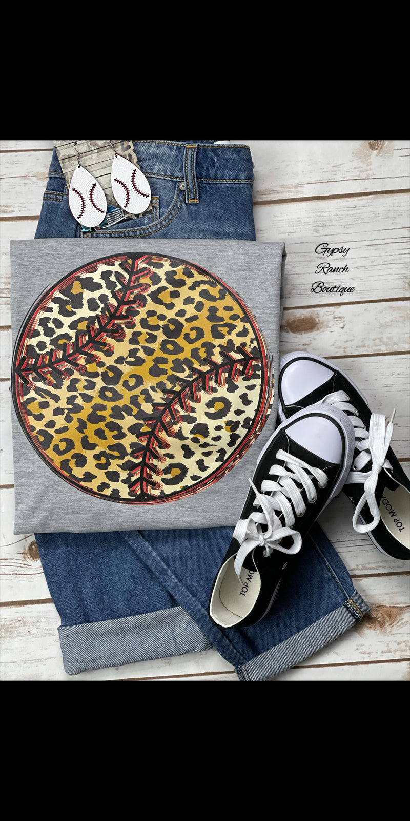 Leopard Baseball Top - Also in Plus Size