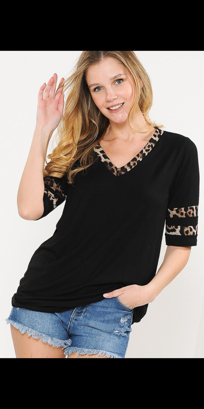 Albany Leopard Top - Also in Plus Size