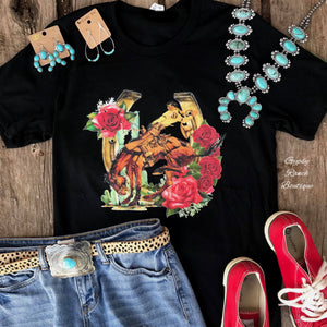 Bronc & Roses Top - Also in Plus Size